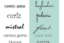 fonts / by Nancy Carter