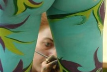 body painting / by Watercolored Windows by Marty