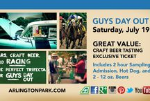 Guys Day Out - Saturday, July 19 / Grab the boys and get ready for our second annual Guys Day Out at Arlington!  It's all about cars, beer, food, and music in the park area on an afternoon packed with good times with your buddies. / by Arlington International Racecourse