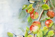 flores y frutas / by Maria Cecilia Vargas