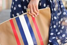 What To Wear For Memorial Day or July 4th / July 4th outfit inspiration, including red white and blue, stars, stripes, accessories, mani/pedi's... - all outfits by fashion bloggers and celebrities / by Nubry