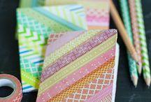 cuadernos y libros forrados / by Valeria