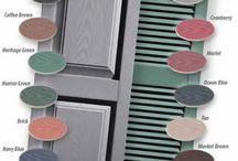 Dinesol Decorative Vinyl Exterior Shutters / Durable Enhanced Graining Deeper Shadow Lines Color-Molded Throughout Limited Lifetime Manufacturers Warranty Colors And Sizes For All Dinesol vinyl shutters are available in 14 preferred colors. Our vinyl louvered, raised-panel and board & batten vinyl outdoor shutters will beautify any home exterior. For those who need to match a specific color we offer a paintable shutter. / by Larson Shutter Company
