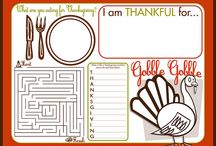 kids placemats and holiday stuff / by Chloe Urwin