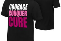 """Courage. Conquer. Cure."" / WWE has partnered with Susan G. Komen to help end breast cancer. Get the Gear & Join the Fight NOW!  / by WWE"