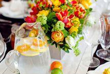 Citrus Wedding Inspiration / Lemons, limes, grapefruits, kumquats, tangerines, oranges / by Lauren Hainsworth