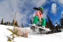 snowboarding! / by Samantha C Mensch