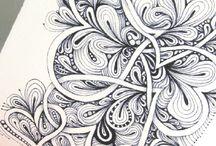 zentangle / Tangle doodle zentangle / by Teresita Romero