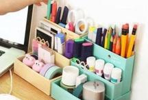 DIY desk organization / by Veronica Murphy Fischer