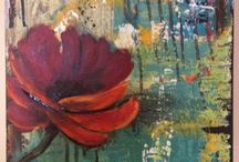 SMALL Paintings - collages, textured small canvases / by Louise Sommerfeld