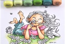 Copics and coloring / by Candy Clay