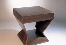End Tables / End Tables, Furniture, Contemporary, Interior Design, Bedside Tables / by Antoine Proulx LLC