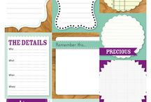 Lables/Printables / by Mandy Hoffman