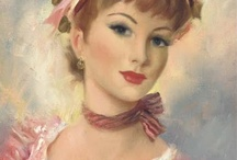 Vintage paintings of women 2 / by Penny Valadez