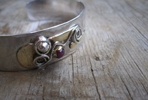 My Handmade Bracelets / The link bracelets here are all handcrafted by me in my studio in the USA.  I am a purist when it comes to handmade, and purchasing mass-produced chains for my bracelets or necklaces would muddy those waters.    Everyone has his/her definition of handmade.   I draw the line here: No mass-produced chains or findings!!! / by Judy Wright of JudithGayleDesigns