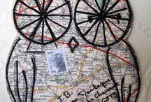 mail art -art postal / les lettres et cartes  / by Elisabeth