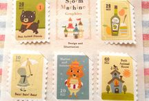 Stamps / the art of postal stamps / by Anais Lee Creative