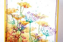 "Cards:  Watercolors and Watercolor ""Look"" / by Jean Ann"