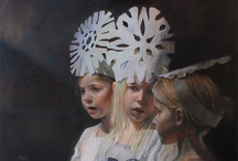 female portraits in hats, scarves II / by Pat Carr