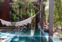 Backyard/pools / by Elizabeth White
