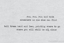 Lyrics / . / by Caitlyn K
