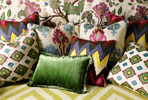 Martyn Lawrence Bullard / Martyn Lawrence Bullard's fabric collection with Schumacher is inspired by his passion for exotic travel, luxurious materials as well as unexpected color and scale. The collection contains prints and wovens that are derived from antique textiles, motifs and patterns gathered during Martyn's journeys. / by Schumacher — Home Décor