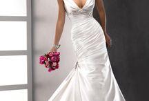 V Neck Design Wedding Dresses / by Roxanne Buffone
