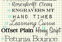 Fonts and Printables / Fonts and prints / by Jill Wray