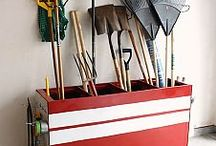 gardening tools and gardening storage / by Debi Robbins