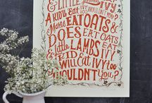 journaling-notebooks-typography-hand lettering / by Beverly LeFevre