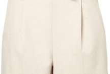 High-Waisted Shorts in Cream / by Holly Griffin