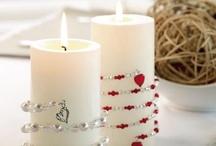 DIY: Candle decorating ideas / by Tina Gray