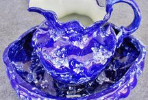 Wash Bowl and Pitcher Set / Antique Wash Basin and Pitcher Set  / by Dawn Gonzalez