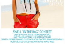 "SWELL ""IN THE BAG"" CONTEST / by Brittany Huckaby"