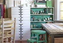 Craft Room Reno / Ideas for renovating my craft space / by Julie Campbell
