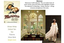 Inspiration 2014: Morrocan / Moroccan motifs abound.  The a la mode tones of sand, mocha, gray and white with highlights of gold--   The attention to detailing – Arabic infusion – brings romance and glamour full circle. / by Vicki Payne