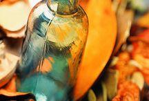 Aqua Blues Orange Coral / by Vicki Horton