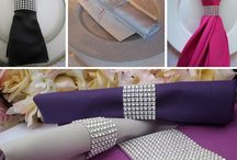 Diamond Wrap Inspiration / Our new diamond wrap has arrived. Use it as a chair sash, table runner, or candle holder wrap--the possibilities are limitless! / by LinenTablecloth.com