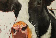Cow art / by Sharon Bernhardt