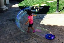 Famous people having fun with bubbles! / Pictures of famous people and their families having fun with bubbles! / by Extreme Bubbles, Inc.