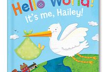 Hello World! Personalized Board Book / Hello, World! makes a perfect gift to welcome a new baby into the world! Parents will treasure this adorable keepsake book, as it is personalized with the new baby's name and photograph. Hello, World! is made with thick, durable pages for exploring little hands. Written by Jennifer Dewing. Illustrated by Holli Conger. Made in the USA. / by I See Me! Personalized Children's Books