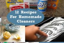 Home: Cleaning Products RECIPES / by Wendy Epps