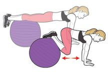 Fitness - Swiss Ball and Medicine Ball Routines / by Sarah Hunt