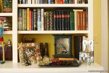 Bookshelf Styling / Bookcase Styling / How To Style a Bookshelf More decorating ideas on http://www.brightboldbeautiful.com/ / by Laura Trevey
