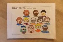 Bible: Jesus 12 apostles/12 disciples / fisher of men / by Linda Zaveson