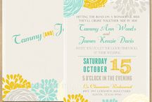 COULEUR - PALETTE TEAL AND YELLOW / by Lierre & Vous Events