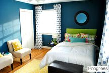 bedrooms / by Emily @ LaForce Be With You