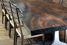 Live Edge Furniture / Capturing the natural undisturbed beauty of solid hardwood slabs transformed into handcrafted furniture / by Vermont Woods Studios Furniture