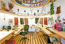 A Place To Write / I work from my 1600 square foot home office. However, that doesn't stop me from enjoying pictures of neat spaces in which to write. / by BVS Books