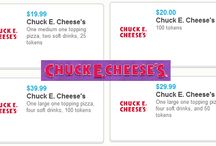 Chuck E Cheese / Kids love Chuck E Cheese! They have everything for parents to help make being a kid fun! / by Family Frugal Fun